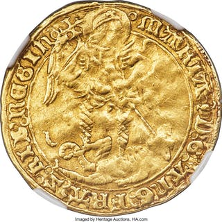 Mary gold Angel ND (1553-1554) VF30 NGC,...