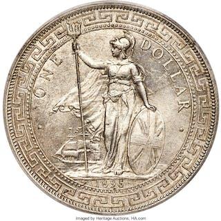 Victoria Trade Dollar 1895-B MS63+ PCGS,...