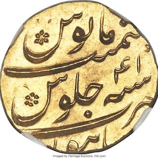 Mughal Empire. Aurangzeb Alamgir gold Mohur AH 1109 Year 41 (AD 1697/8)