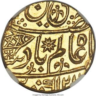 British India. Bengal Presidency gold Mohur AH 1202 Year 30 (1788) MS65 NGC,...