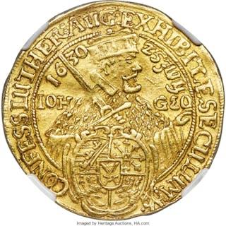 Saxony. Johann Georg I gold 2 Ducat 1630 AU55 NGC,...