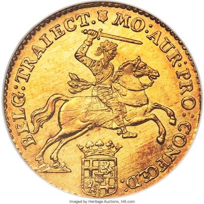 Utrecht. Provincial gold 14 Gulden (Gold Rider) 1763 MS65 NGC,...