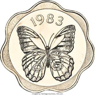"Republic gold ""Owl Butterfly"" 500 Balboas 1983-FM MS67 NGC,..."