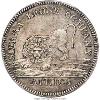 British Colony. Sierra Leone Company silver Dollar 1791 AU Details