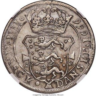 Frederick III Krone (4 Mark) 1666-GK AU50 NGC,...