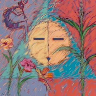 Dan Namingha (American, b. 1950) Blessing Chant, 1989 Acrylic on canvas