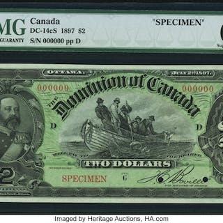 Canada Dominion of Canada $2 2.7.1897 DC-14cS Specimen PMG Superb