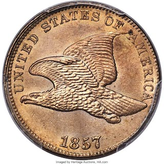 1857 1C Flying Eagle, MS
