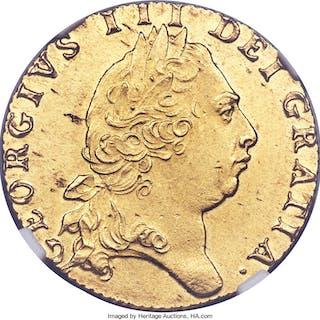 George III gold Guinea 1798 MS62 NGC,...