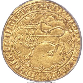 Aquitaine. Edward III gold Leopard d'Or ND (1325-1377) MS61 NGC,...