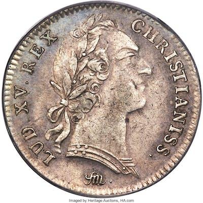 Louis XV silver Franco-American Jeton 1751 XF40 PCGS,...