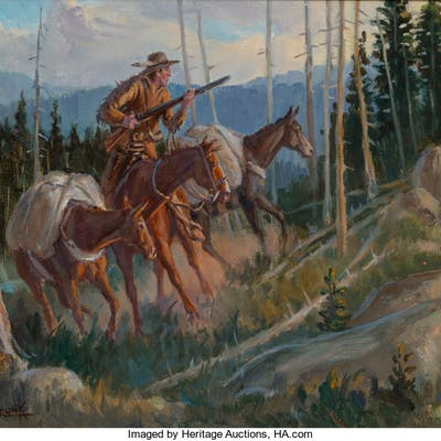 Harry Brunk (American, 20th Century) Saratoga Oil on canvas 9 x 12