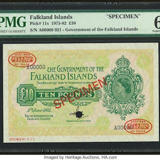 Falkland Islands Government of the Falkland Islands 10 Pounds 5.6.1975