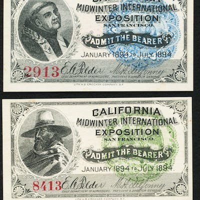 California Midwinter International Exposition Admission Tickets Four