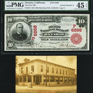 Ontario, CA - $10 1902 Red Seal Fr. 613 The First NB Ch. # (P)6268