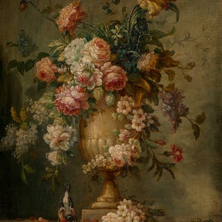 Franco-Flemish School (18th Century) Still Life with Flowers in an