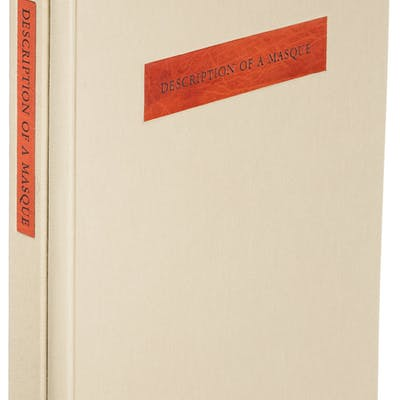 [Limited Editions Club]. John Ashbery. Description of a Masque. New