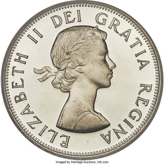 """Elizabeth II Specimen """"Large Date - Shoulder Fold"""" 50 Cents 1953 SP67 PCGS,..."""