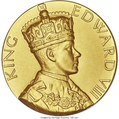 """Edward VIII gold Matte Specimen """"Abdication"""" Medal 1936 SP68 PCGS, ..."""