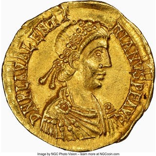 Valentinian III, Western Roman Empire (AD 425-455). AV solidus (20mm