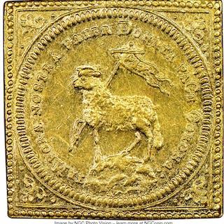 Nürnberg. Free City gold Restrike Klippe Ducat MDCC (1700)-CGL MS61 NGC,...
