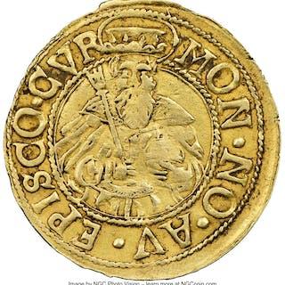 Chur - Bishopric. Johann V Flugi von Aspermont gold Goldgulden ND