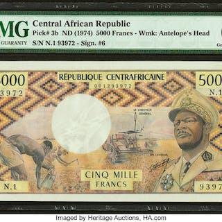 Central African Republic Banque des Etats de l'Afrique Centrale 5000