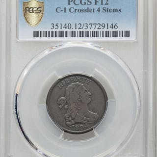 1804 1/2 C Crosslet 4, Stems, C-1, BN, MS