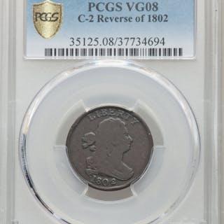 1802/0 1/2 C Reverse of 1802, C-2, BN, MS