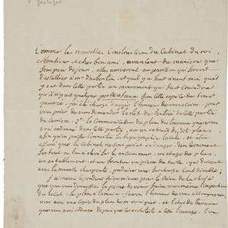 Barthélémy Faujas de Saint-Fond. Autograph Letter Signed. [Paris]: