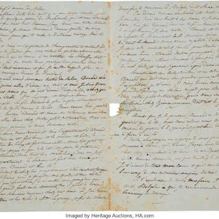 François-Joseph Fêtis. Autograph Letter....