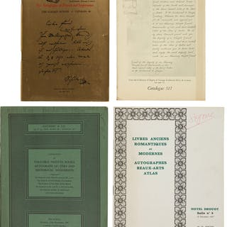 [Maurice Car Catalogues] Approximately 300 Rare Book Shop and Auction