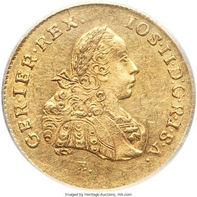 Joseph II gold 2 Ducat 1776 E-HG AU53 PCGS,...