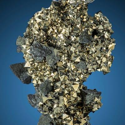 Freibergite on Pyrite Siete Suyos Mine, Chocaya-Animas, Atocha-Quechisla