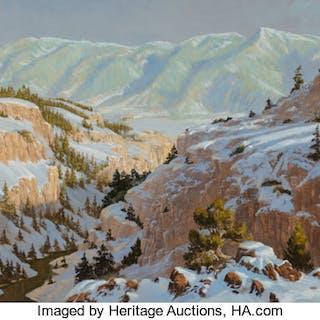 Glen Spencer Hopkinson (American, b. 1946) Clark's Fork Canyon, 1980