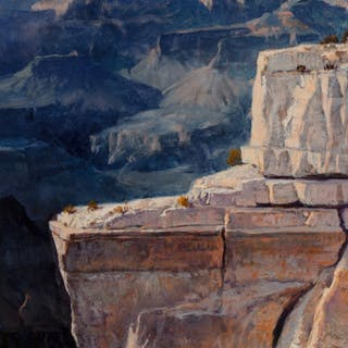 Earl Carpenter (American, b. 1931) Grand Canyon Oil on canvas laid
