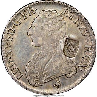 Bern. Canton Counterstamped 40 Batzen ND (1816-1819) AU50 NGC,...