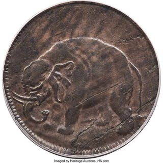London Elephant Token, Thin Planchet, BN