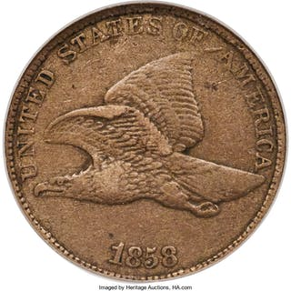 1858/7 1C Overdate , FS-301 , S-1