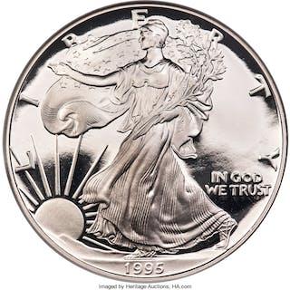 1995-W S$1 Silver Eagle, DC