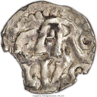 Carolingian. Charlemagne (768-814) Denier ND (771-793) AU Details