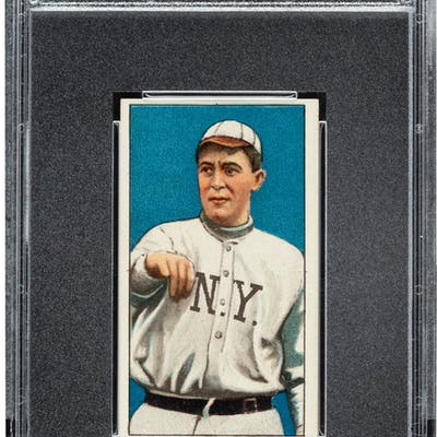 1909-11 T206 Piedmont 350 Bugs Raymond PSA NM 7 – Only Two Higher.