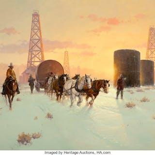 Robert Pummill (American, b. 1936) Teamwork, 1982 Oil on canvas 36