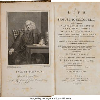 James Boswell. The Life of Samuel Johnson.  London: 1793. Second edition.