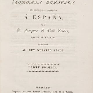 Marques de Valle Santoro. Elementos de Economia Politica. Con Aplicacion