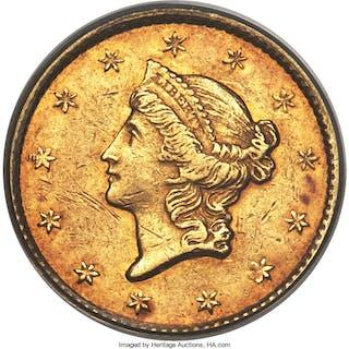 1849-C G$1 Closed Wreath