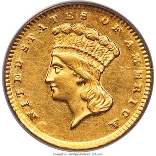 1856-D G$1, MS