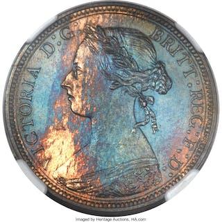 Victoria Proof 1/2 Penny 1890 PR65 Brown NGC,...