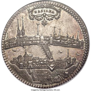 Basel. City Taler ND (c. 1700's) AU58 NGC,...