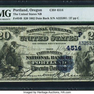 Portland, OR - $20 1882 Date Back Fr. 549 The United States NB Ch.